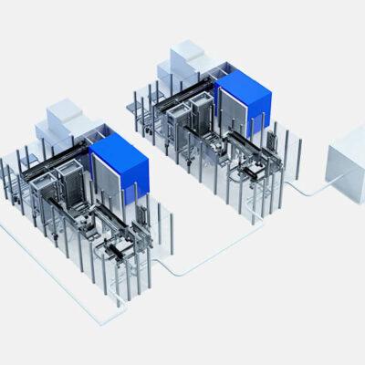 Produktionsanlage Entnahmeautomation